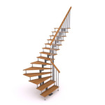 поворотная модульная лестница 90