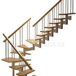 поворотная модульная лестница 180